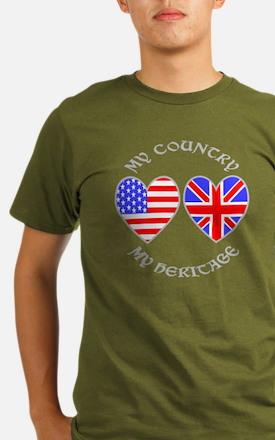 UK USA Country Herita Organic Men's T-Shirt (dark)