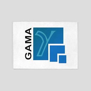 GAMA Logo 5'x7'Area Rug