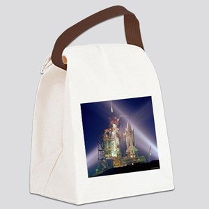 Space Shuttle Launch Canvas Lunch Bag