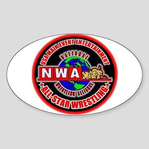 NWA ASW Oval Sticker