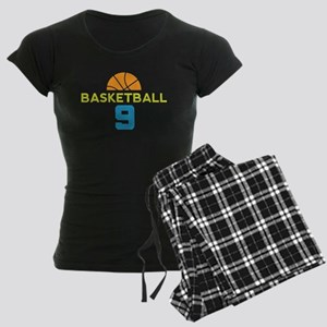 Custom Basketball Player 9 Women's Dark Pajamas