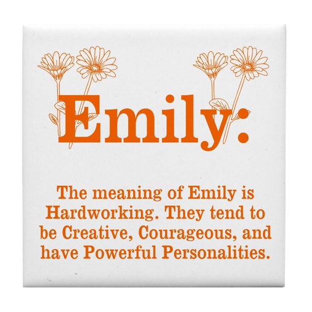 The Meaning Of Emily Tile Coaster