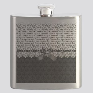 Elegant Black Love Flask