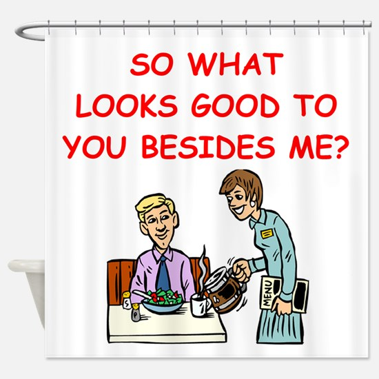 waitress Shower Curtain