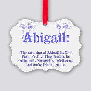 The Meaning of Abigail Ornament