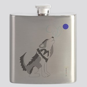 ZIGGY the WOLF Flask