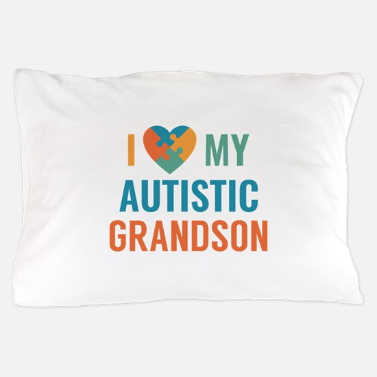I Love My Grandson Pillow Case