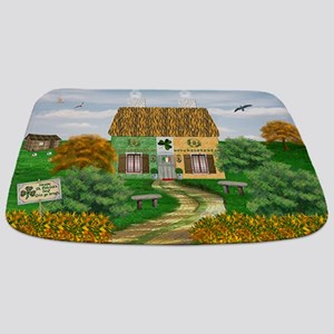 St Patricks Day Cottage Bathmat