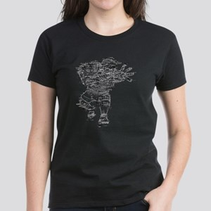 Rugby Player Made of Rugby Terms Women's Dark T-Sh