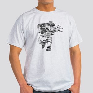 Rugby Player Made of Rugby Terms Light T-Shirt