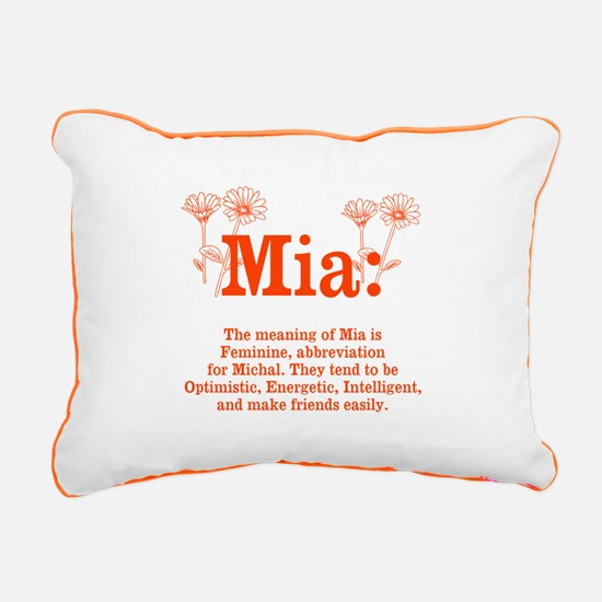 The Meaning of Mia Rectangular Canvas Pillow