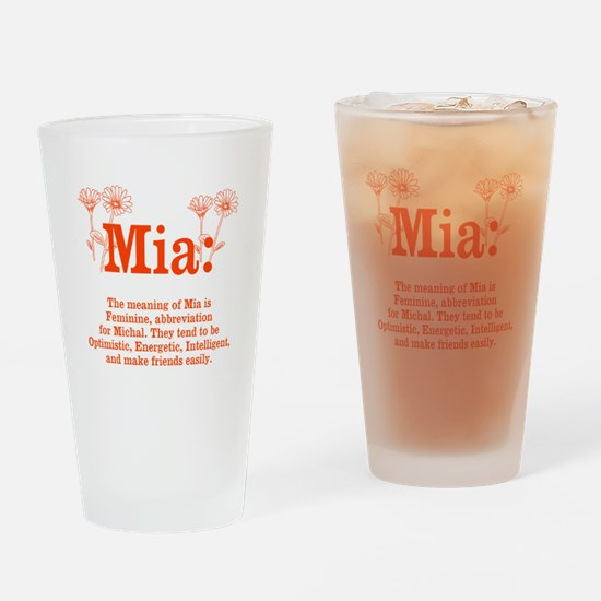 The Meaning of Mia Drinking Glass