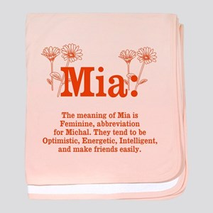 The Meaning of Mia baby blanket