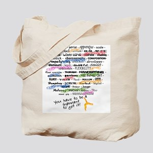 The Words of Gymnastics Tote Bag