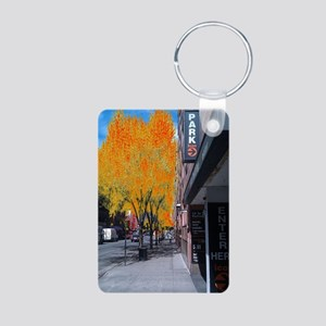 Fire Trees Aluminum Photo Keychain