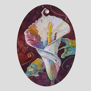Summer Calla Oval Ornament
