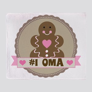 Number One Oma Gingerbread Throw Blanket