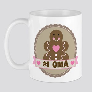 Number One Oma Gingerbread Mug