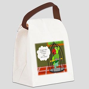 BirdCage10x7.9 Canvas Lunch Bag