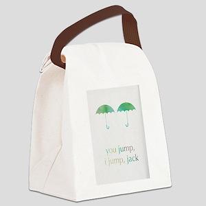 you jump, i jump Canvas Lunch Bag
