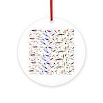Tackle Box Pattern 1 Ornament (Round)