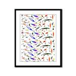 Tackle Box Pattern 1 Framed Panel Print