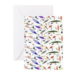 Tackle Box Pattern 1 Greeting Cards