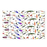 Tackle Box Pattern 1 Postcards (Package of 8)