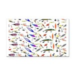 Tackle Box Pattern 1 Rectangle Car Magnet