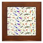 Tackle Box Pattern 1 Framed Tile