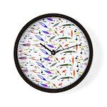 Tackle Box Pattern 1 Wall Clock