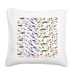 Tackle Box Pattern 1 Square Canvas Pillow