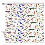 Tackle Box Pattern 1 Shower Curtain