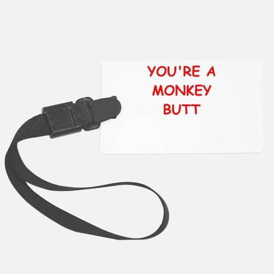 monkey butt Luggage Tag