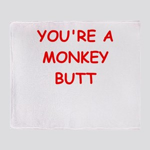 monkey butt Throw Blanket