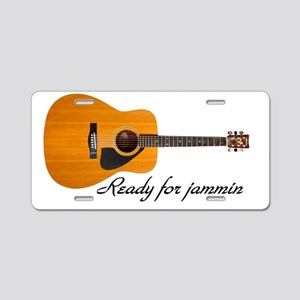acoustic guitar ready for j Aluminum License Plate