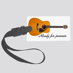 acoustic guitar ready for jammin Large Luggage Tag