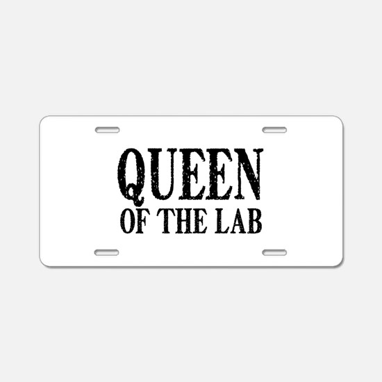 Queen of the Lab Aluminum License Plate