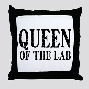 Queen of the Lab Throw Pillow