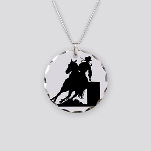Barrel Racing Necklace Circle Charm