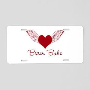 Biker Babe Wings Aluminum License Plate