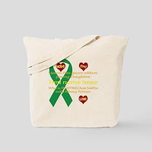 Hope Pray Love Kidney Ribbon Tote Bag