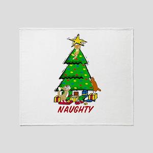 Christmas Kittens Throw Blanket