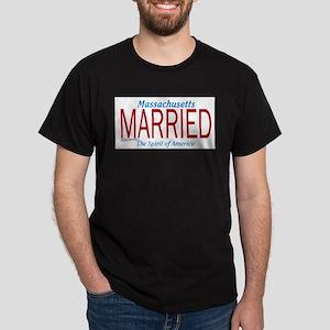 Massachusetts Marriage Equality Dark T-Shirt