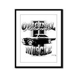 Black car Framed Panel Print