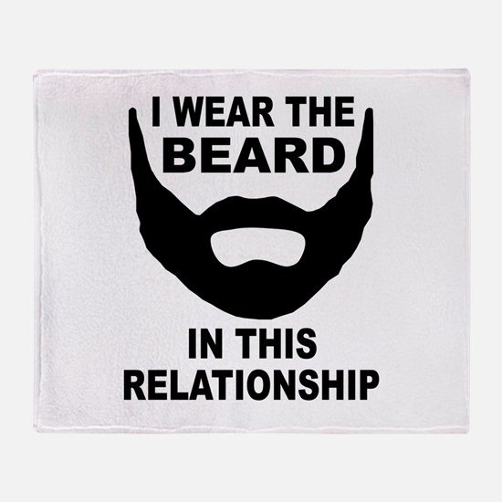 I Wear The Beard Throw Blanket