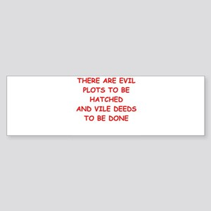 evil Bumper Sticker