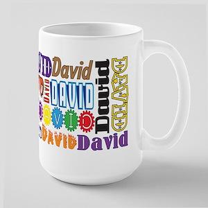 David 15 Oz Ceramic Large Mug Mugs