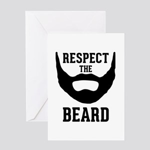 Respect The Beard Greeting Card