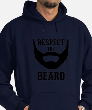 Respect The Beard Hoodie (dark)